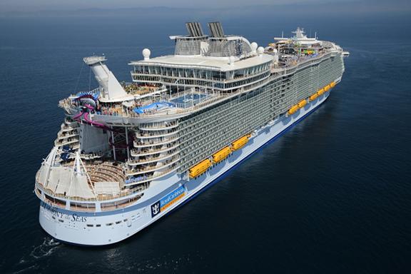 Harmony of the Seas sailing through the Caribbean Sea