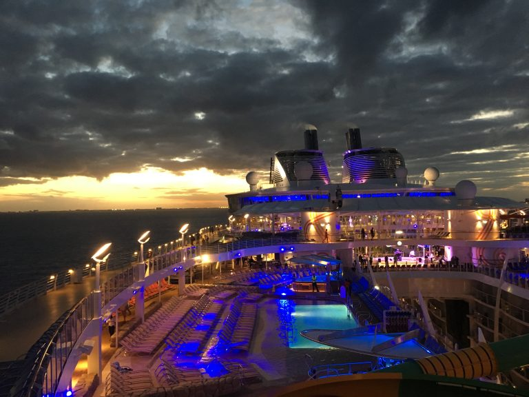 The Harmony of the seas at sunset