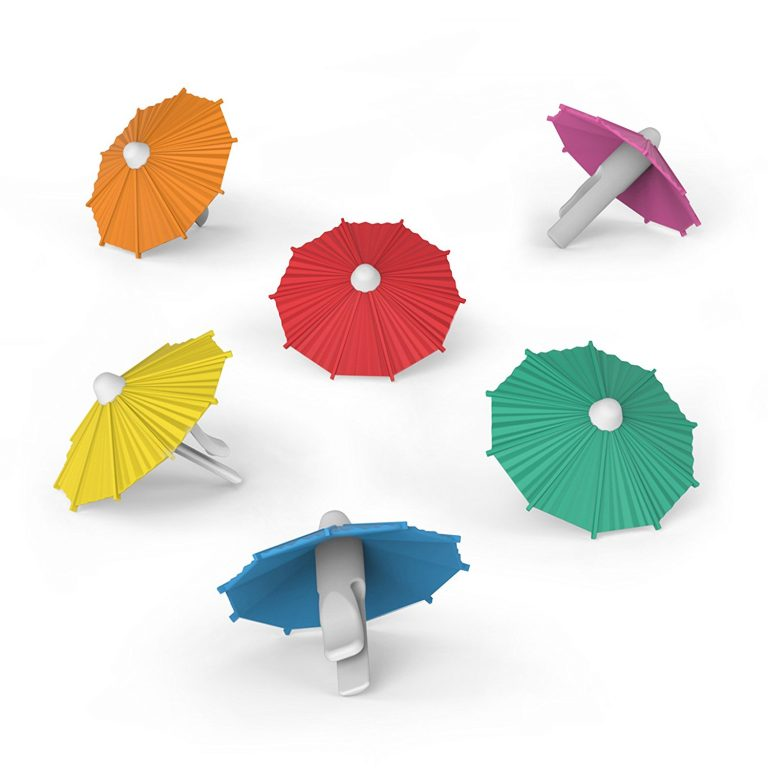 Little Umbrella Clip-On Drink Markers