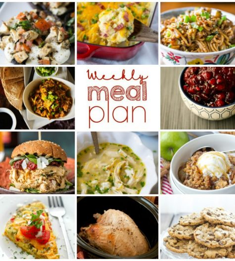 Weekly Meal Plan {Week 70} - 11 of us food bloggers bringing you a full week of recipes including holiday dinner ideas, festive sides dishes, and divine desserts!