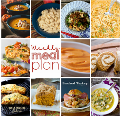 Weekly Meal Plan {Week 71} – 11 great bloggers bringing you a full week of recipes including Thanksgiving dinner ideas, sides dishes, and desserts!