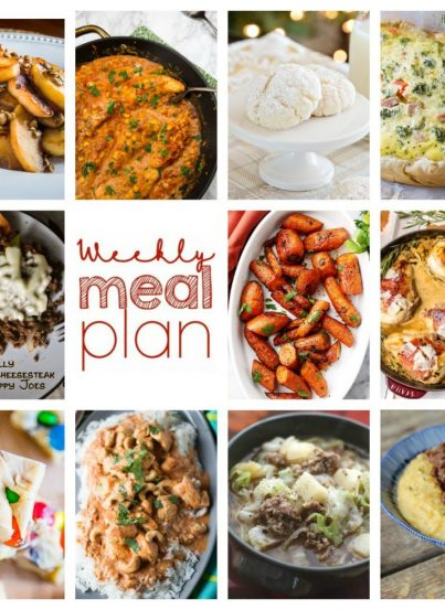 Weekly Meal Plan {Week 73} – 11 great bloggers bringing you a full week of delicious holiday and Christmas recipes including dinner, sides dishes, and desserts!