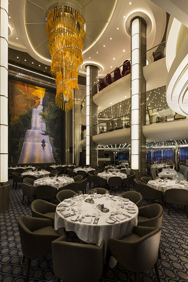 The Main Dining room, Harmony of the Seas.
