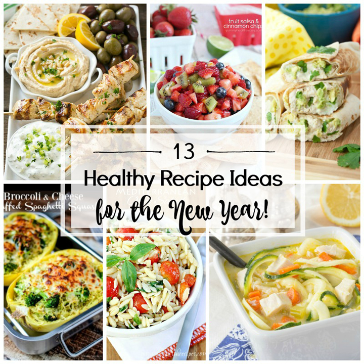 You will love this collection of 13 Healthy New Year Recipe Ideas to start the New Year and your better diets off on the right foot!