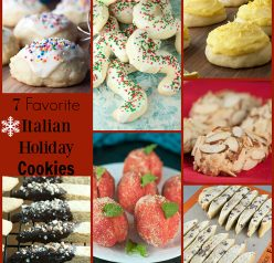 7 Favorite Italian Holiday Cookies are the best and most authentic Italian Christmas desserts for your annual cookie trays!