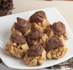 Chocolate Chex Scotcheroos are a simple, gluten free dessert recipe similar to Rice Krispies treats and made with peanut butter, chocolate, and butterscotch chips!