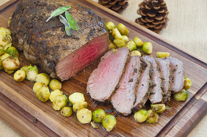 New York Strip Loin Roast with Garlic-Herb Crust recipe is a wonderful Thanksgiving, Christmas, or Easter dinner to prepare when you want to pull out all the stops and impress people. It is simple, yet tastes like something out of a 5-star restaurant!