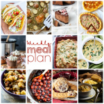 Weekly Meal Plan {Week 74} – bringing you a week of delicious & easy holiday recipes including dinner, sides, drinks, & desserts the whole family will love!