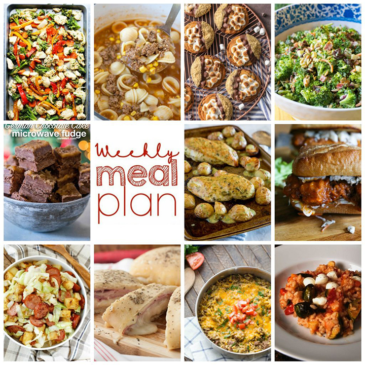 Weekly Meal Plan {Week 77} – 11 food bloggers collaborating to bring you one full week of recipe ideas including dinner, sides dishes, and desserts for the New Year!