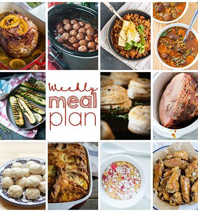 Weekly Meal Plan {Week 75} – 11 great food bloggers bringing you a full week of recipes including Christmas dinner, sides dishes, and desserts!