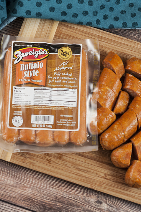 Zweigle's all natural, gluten-free Buffalo Style chicken sausage