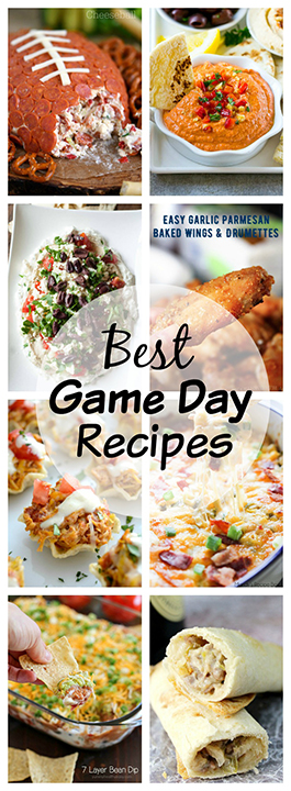 The Best Game Day Recipes: over 20 delicious recipes great for any get-together, Super Bowl or party: cheesy dips, chicken fingers, deviled eggs, pizza bombs, crock pot meatballs, and more!