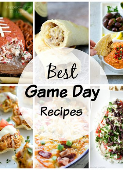 The Best Game Day Recipes: over 20 delicious recipes great for any get-together or party: cheesy dips, chicken fingers, deviled eggs, pizza bombs, meatballs, and more!