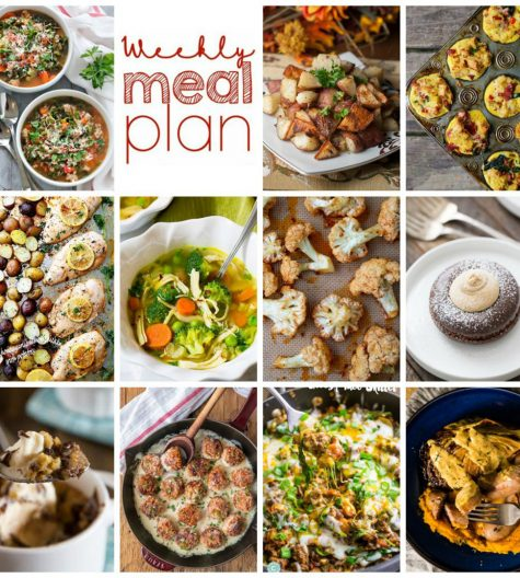Weekly Meal Plan {Week 77} – 11 great bloggers bringing you a full week of recipes including dinner, sides dishes, and desserts for 2017!