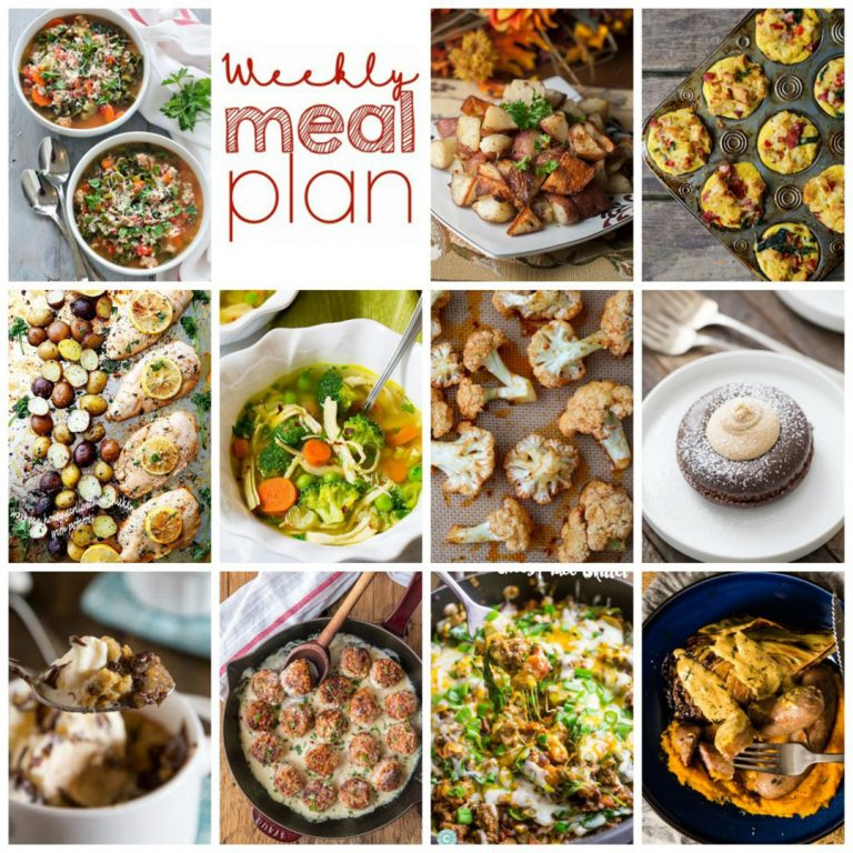 Weekly Meal Plan {Week 78} – 11 great bloggers bringing you a full week of recipes including dinner, sides dishes, and desserts for 2017!