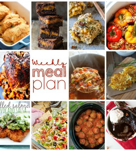 Weekly Meal Plan {Week 80} – 11 great bloggers bringing you an entire week of yummy recipes including dinner, sides dishes, and desserts!