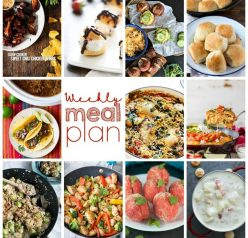 Weekly Meal Plan {Week 84} – 11 great bloggers bringing you a full week of recipes including dinner, sides dishes, and desserts!