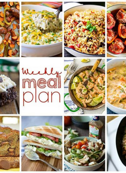 Weekly Meal Plan {Week 85} – 11 great bloggers bringing you an entire week of yummy, easy recipes including dinner, sides dishes, and desserts!