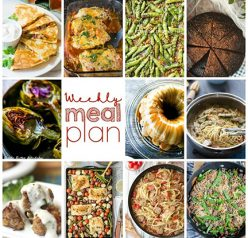 Here is your Weekly Meal Plan {Week 86} and it's a good one! We are bringing you another full week of recipes including fun dinner ideas, sides dishes, and desserts!