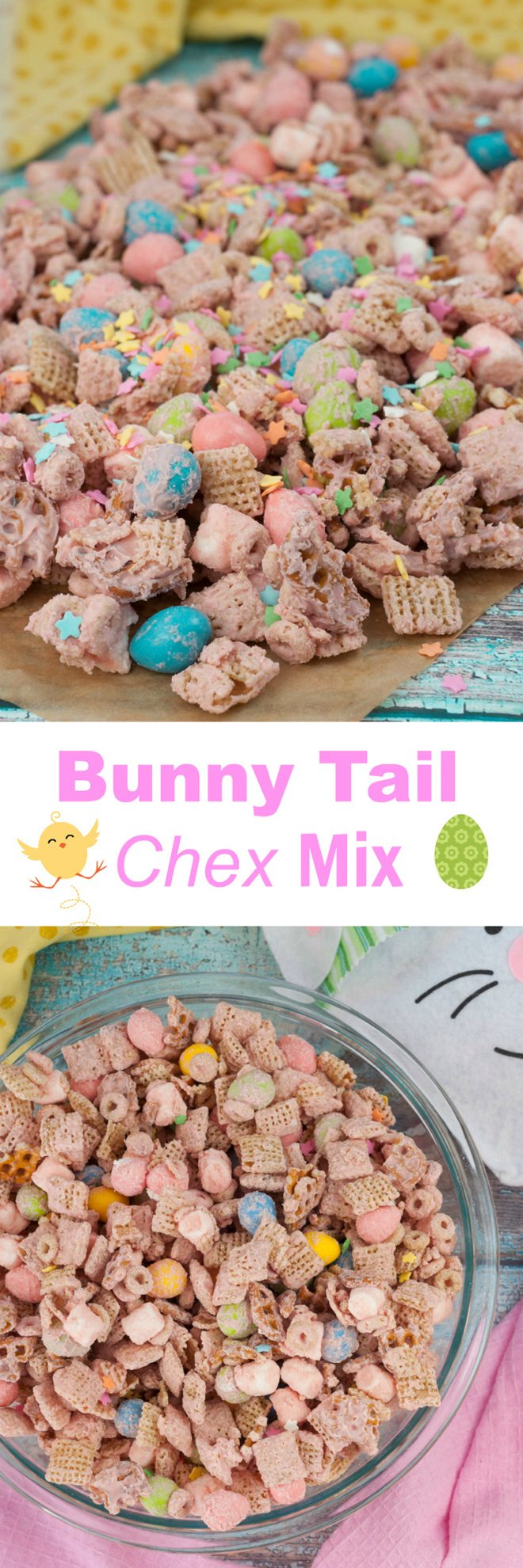 Easter Bunny Tail Chex Mix Wishes And Dishes