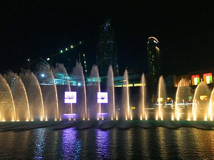 Fountain show, Burj Khalifa, Dubai.
