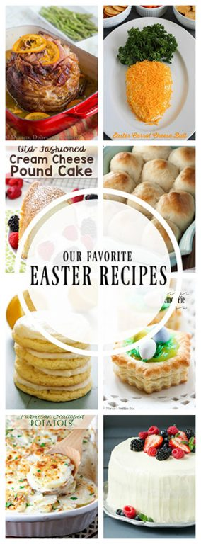 Our Favorite Easter Recipes where you can find a collection of all the recipes you need to make a beautiful Easter brunch along with holiday dessert ideas!