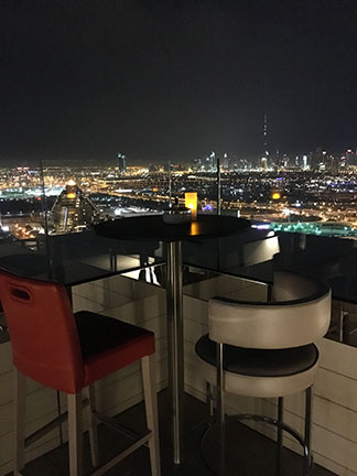 The skyline of Dubai from the Hyatt Regency, United Arab Emirates
