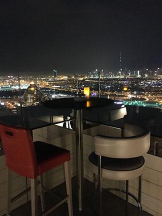 The skyline of Dubai from the Hyatt Regency, United Arab Emirates