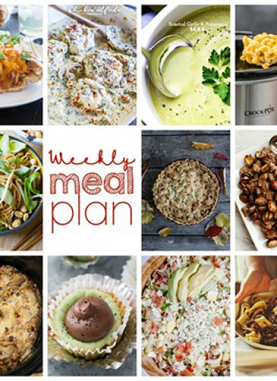 This Weekly Meal Plan {Week 87} contains 11 amazing recipes including new dinner ideas, sides dishes, and sinful desserts!
