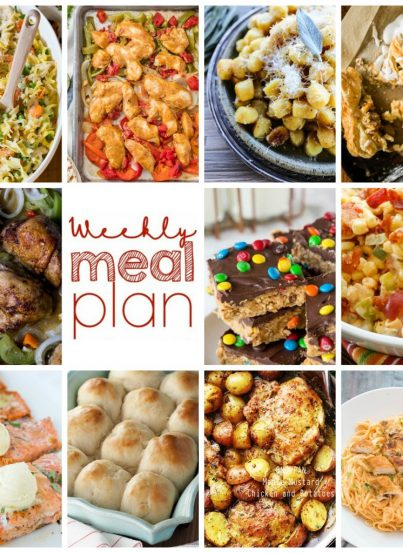 Weekly Meal Plan {Week 88}Weekly Meal Plan Week 88 – 11 great bloggers bringing you a full week of recipes including simple dinner, sides dishes, and sweet desserts!