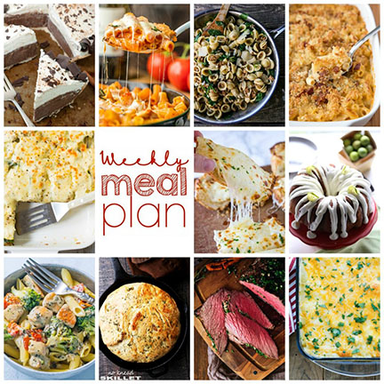 Weekly Meal Plan {Week 89} - 11 great bloggers bringing a whole week of recipes with easy-to-find ingredients, including dinner, sides dishes, & desserts!