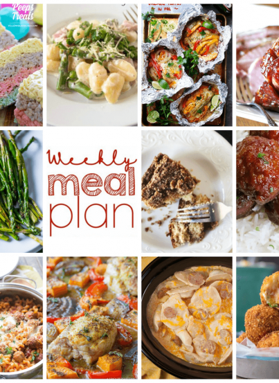 Weekly Meal Plan {Week 90} - 11 great bloggers bringing you an entire week of new recipe ideas including dinner, sides dishes, and desserts!