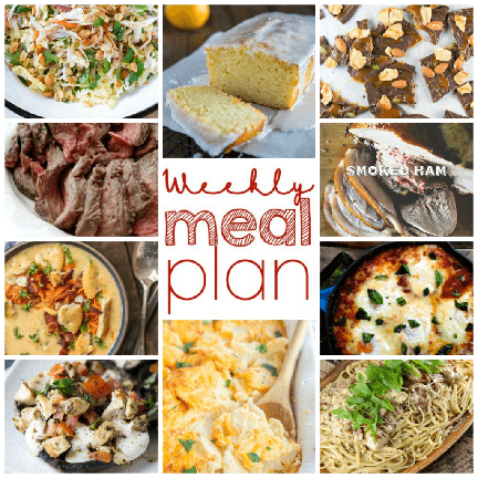 Weekly Meal Plan {Week 91} - 10 great food bloggers creating for you a full week of recipe ideas: dinners, sides dishes, and sweet desserts!