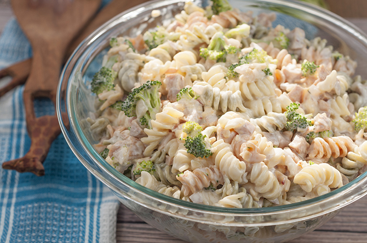 Easy Sausage Broccoli Cheddar Pasta Salad is a side dish recipe tossed with a creamy, slightly sweet dressing that is perfect for any picnic, Memorial day, or 4th of July, and tastes great every time!
