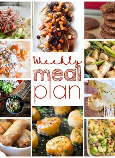 Weekly Meal Plan {Week 93} - 10 great bloggers bringing you a full week of recipes including dinner, sides dishes, and desserts!