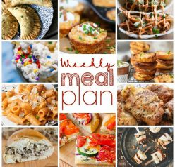 Weekly Meal Plan {Week 94} - 10 great bloggers bringing you a full week of spring recipes including dinner, sides dishes, and desserts!