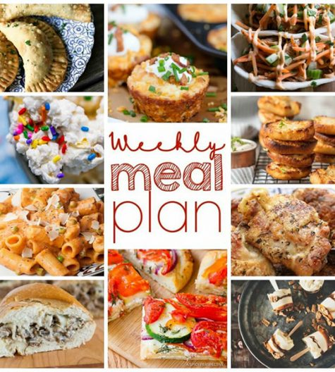 Weekly Meal Plan {Week 94}- 10 great bloggers bringing you a full week of spring recipes including dinner, sides dishes, and desserts!
