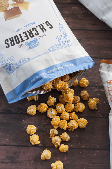 G.H. Cretors Chicago Illinois Mix Sweet and Salty popcorn is an easy, organic snack for kids and adults.