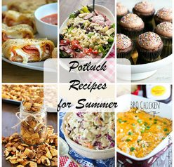 Easy Potluck Recipe Ideas for Summer for Memorial Day, 4th of July, or Labor Day. There are simple ideas for sweet or savory!