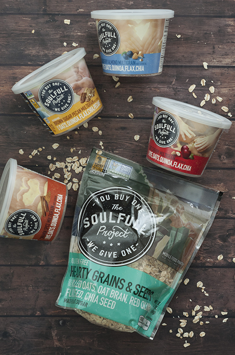 The Soulfull Project Wegmans Charity to give a serving of hot cereal for every serving bought.