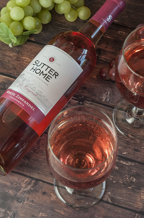 Sutter Home White Zinfandel with a medium sweetness profile.
