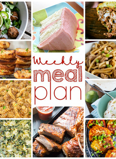 Weekly Meal Plan {Week 95} - 10 great bloggers bringing you a full week of recipes that are perfect for spring ncluding dinner, sides dishes, and indulgent desserts!