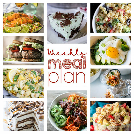 Weekly Meal Plan {Week 96} - 10 great bloggers bringing you a full week of recipes including dinner, ideas for summer pot lucks, sides dishes, and desserts!