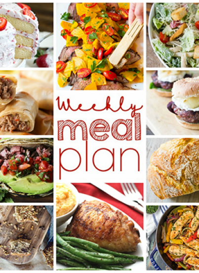 Weekly Meal Plan {Week 97} - 10 great bloggers bringing you a full week of yummy recipes including Memorial Day ideas, dinner, sides dishes, and desserts!