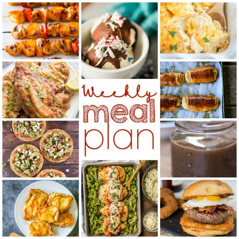 Weekly Meal Plan {Week 98} - 10 great bloggers bringing you a full week of recipes including dinner, sides dishes, and desserts just in time for Memorial day cook-outs and picnics!