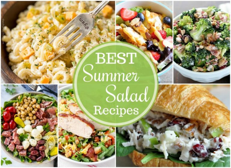 The Best Summer Salad Recipes - including pasta, potato and fruit salads - are the perfect sides forgrilling out,picnics and potlucks, or just every day!