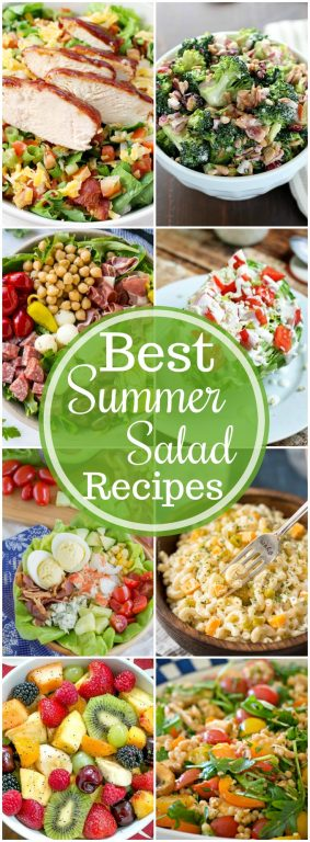 The Best Summer Salad Recipes - including pasta, potato and fruit salads - are the perfect sides for grilling out, BBQ's, picnics and potlucks, or just every day!