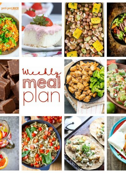 Weekly Meal Plan {Week 100} - 10 great bloggers bringing you a full week of summer recipes including dinner, sides dishes, and desserts!