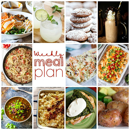 Weekly Meal Plan {Week 101} – 10 great bloggers bringing you a full week of recipes including dinner, sides dishes, and desserts!