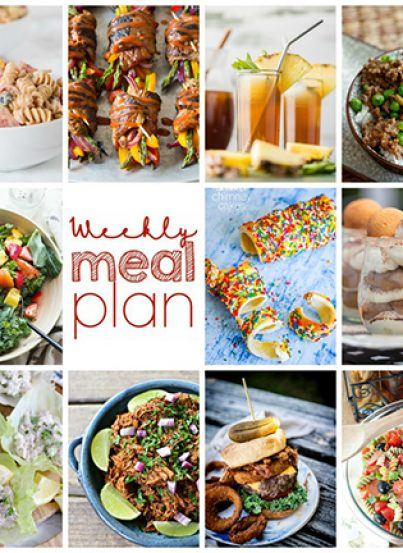 Weekly Meal Plan {Week 103} – 10 food bloggers bringing you a full week of 4th of July weekend and summer recipes including dinner, sides dishes, and desserts!